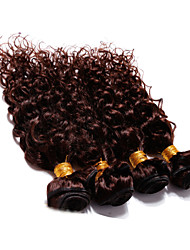 cheap -4 pcs lot 12 30 brazilian deep curl virgin hair wefts dark brown remy human hair weave tangle free
