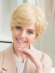 cheap -Fashion Short  Natural  Wave  Human Hair Wigs For Woman
