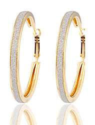 cheap -Women's Hoop Earrings Silver Plated Gold Plated Earrings Jewelry Gold / Silver For Wedding Party