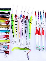 cheap -29 pcs Hard Bait Fishing Lures Hard Bait Multifunction Sinking Bass Trout Pike Bait Casting General Fishing Hard Plastic PE