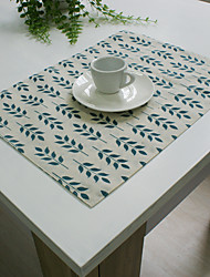 cheap -Rectangular Embroidered Placemat , Cotton Blend Material Hotel Dining Table Table Decoration