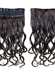 cheap -Clip In Synthetic Hair Extensions 24inch 60cm 120g 5 Clips Clip In Synthetic Curly Wavy Hair 16 Colors