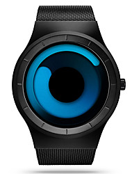 Недорогие -SINOBI Муж. Спортивные часы Наручные часы Кварцевый Нержавеющая сталь Черный 30 m Защита от влаги Ударопрочный Аналоговый Роскошь На каждый день Уникальные творческие часы Простые часы - / Два года