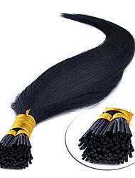Недорогие -Febay Fusion / с I-образным кончиком Расширения человеческих волос Прямой Натуральные волосы Светло-русый