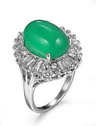 cheap -Women's Ring thumb ring AAA Cubic Zirconia Green Zircon Cubic Zirconia Alloy Asian European Fashion Casual Jewelry Cocktail Ring