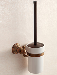 cheap -Toilet Brush Holder Antique Brass 1 pc - Hotel bath