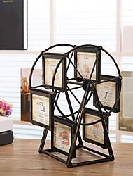 Недорогие -ретро колесо обозрения поворотное изображение многокадровое европеец ретро большой ветряная мельница детская комната фоторамки свадебный домашний декор