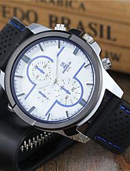 Недорогие -Муж. Спортивные часы Часы-брелок Наручные часы Кварцевый силиконовый Черный / Белый / Синий Повседневные часы Cool Аналоговый Классика На каждый день Нарядные часы -