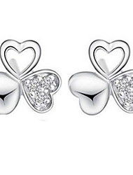 cheap -Women's Stud Earrings Sterling Silver Earrings Jewelry Silver For Party