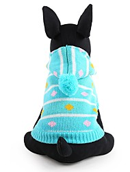 cheap -Dog Sweater Winter Dog Clothes Blue Pink Costume Acrylic Fibers Stripes Keep Warm Fashion XXS XS S M L
