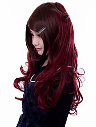 cheap -Cosplay Wigs Women's 24 inch Heat Resistant Fiber Brown Brown Anime