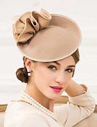 cheap -Women's Feather / Polyester / Wool Headpiece-Wedding / Special Occasion / Casual Fascinators / Hats 1 Piece