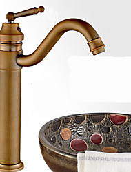 cheap -Bathroom Sink Faucet - Rotatable Antique Bronze Vessel One Hole / Single Handle One HoleBath Taps
