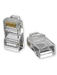 cheap -RJ45 8pin ABS Modular Plug Connector Transparent 50 PCS