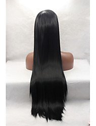 cheap -Synthetic Lace Front Wig Straight Synthetic Hair Natural Hairline Black Wig Women's Lace Front