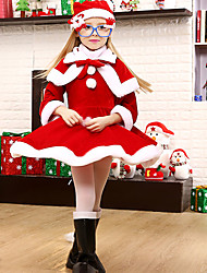 cheap -Santa Suits Cosplay Costumes Kid Christmas Festival/Holiday Halloween Costumes Patchwork