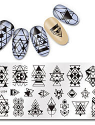 cheap -1 pcs Stamping Plate Template nail art Manicure Pedicure Fashion Daily / Steel