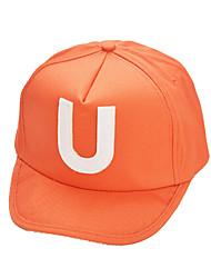 abordables -Homme Femme Unisexe Lettre et chiffre Chapeau Mancherons Ecran Solaire Confortable Protectif pour Sport de détente Base ball Printemps Eté Noir Orange Jaune