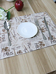 cheap -Square Patchwork Patterned Placemat , Cotton Blend Material Hotel Dining Table Table Decoration