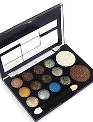 cheap -12 Colors Eyeshadow Palette Powders Blush Shimmer Eye Face Matte Shimmer Glitter Shine smoky Waterproof Shimmer glitter gloss Coloured gloss Cosmetic Gift