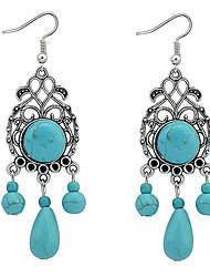 cheap -Women's Turquoise Drop Earrings Drop Luxury European Fashion Resin Turquoise Earrings Jewelry Blue For Daily