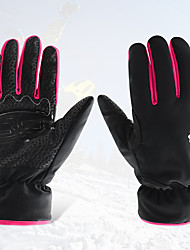 cheap -Ski Gloves Women's Snowsports Full Finger Gloves Winter Waterproof Windproof Warm Leatherette Polyester 100% Polyester Ski / Snowboard