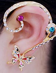 cheap -Women's Clip on Earring Ear Cuff Helix Earrings Butterfly Animal Ladies Luxury Rhinestone Imitation Diamond Earrings Jewelry Rainbow / White For Party Daily Casual