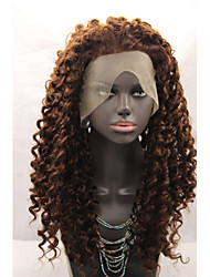 cheap -Synthetic Lace Front Wig Water Wave Water Wave Lace Front Wig Brown Synthetic Hair Women's Natural Hairline Brown