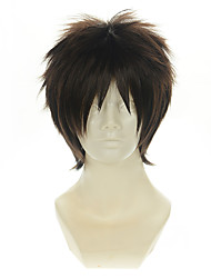 cheap -Cosplay Costume Wig Synthetic Wig Straight Straight Wig Short Brown Synthetic Hair Women's Brown OUO Hair