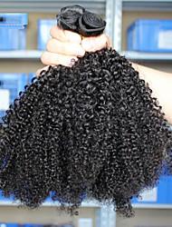 cheap -4 Bundles Brazilian Hair Kinky Curly 300 g Natural Color Hair Weaves / Hair Bulk Human Hair Weaves Human Hair Extensions