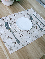 cheap -Square Print Patterned Floral Placemat , Cotton Blend Material Hotel Dining Table Table Decoration