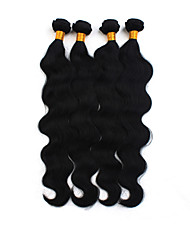 cheap -4 Bundles Brazilian Hair Body Wave Human Hair Natural Color Hair Weaves / Hair Bulk Human Hair Weaves Human Hair Extensions / 8A