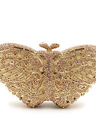 cheap -Women's Bags Metal Evening Bag Crystal / Rhinestone Flower for Wedding / Event / Party / Formal Golden / Rose Gold / Black / Peach / Light Green / Pink / Gold / Silver / Dark Blue