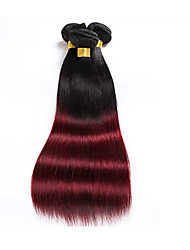 cheap -Brazilian Hair Straight Human Hair Ombre Hair Weaves / Hair Bulk Human Hair Weaves Human Hair Extensions / 8A