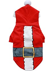 cheap -Dog Hoodie Winter Dog Clothes Red Costume Cotton Character Fashion Christmas XS S M L