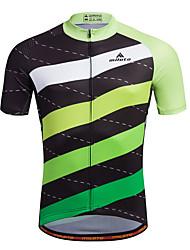 cheap -Miloto Men's Short Sleeve Cycling Jersey Bike Shirt Sweatshirt Jersey Mountain Bike MTB Road Bike Cycling Breathable Quick Dry Reflective Strips Sports 100% Polyester Clothing Apparel / Stretchy