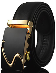cheap -Men's Luxury / Work / Casual Leather / Alloy Waist Belt - Solid Colored Stylish