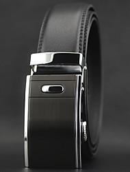 cheap -Men's Waist Belt Leather Alloy Belt Solid Colored