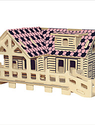 cheap -Wooden Puzzle House Professional Level Wooden 1 pcs Kid's Boys' Toy Gift