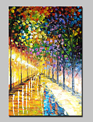 cheap -Mintura® Hand Painted Streets Landscape Oil Paintings On Canvas Modern Abstract Wall Art Picture For Home Decoration Ready To Hang
