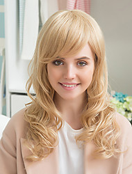 cheap -Elegant Charming   Long Natural  Wavy   Human Hair Wigs For Woman
