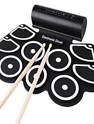 cheap -The Silicone Hand-rolling Drums Drum Kit USB Electronic Drum