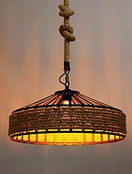 abordables -encastré corde de chanvre downlight peint finitions concepteurs en métal 110-120v / 220-240v ampoule blanc chaud inclus / e26 / e27