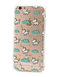cheap -Phone Case For Back Cover iPhone 8 Plus iPhone 8 iPhone SE / 5s Transparent Cartoon Unicorn Soft TPU