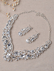 cheap -Women's Jewelry Set Bridal Jewelry Sets Party Earrings Jewelry Silver For Wedding Party
