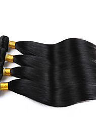 cheap -4 Bundles Indian Hair Straight Human Hair Natural Color Hair Weaves / Hair Bulk Human Hair Weaves Human Hair Extensions / 8A