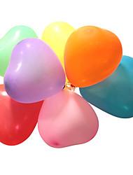 Недорогие -Воздушные шары Рождественский декор Товары для Рождественской вечеринки Сердце пластик Игрушки Подарок 100 pcs