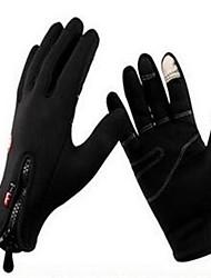 cheap -Winter Bike Gloves / Cycling Gloves Ski Gloves Mountain Bike MTB Thermal / Warm Windproof Breathable Anti-Slip Full Finger Gloves Sports Gloves Lycra Mesh Silicone Gel Black for Adults' Ski