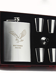cheap -Stainless Steel Hip Flasks Groom / Groomsman / Ring Bearer Birthday / Congratulations / Thank You