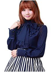 cheap -Girls' Sweet Lolita Blouse / Shirt Red Blue White Spandex Lolita Accessories